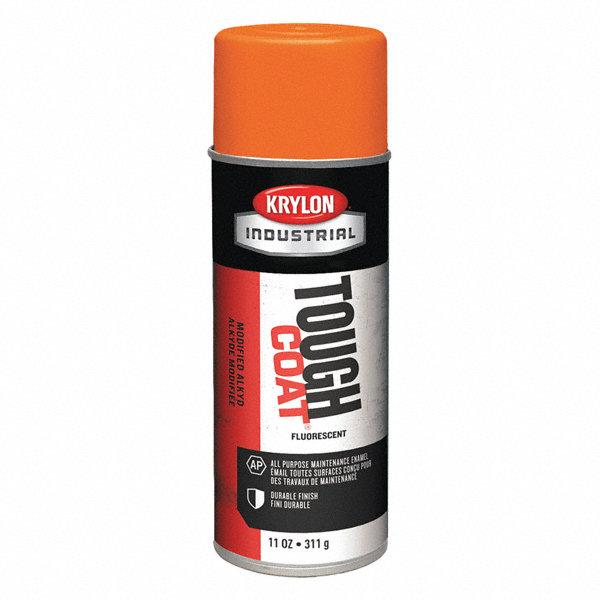 Krylon Tough Coat Rust Preventative Spray Paint In Gloss Fluorescent Orange For Metal Steel 11
