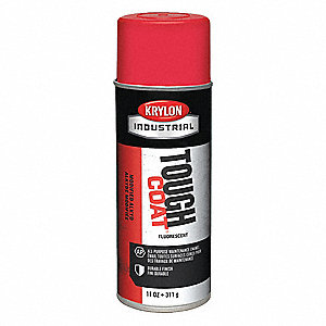 Tough Coat Rust Preventative Spray Paint in Gloss Fluorescent Red for Metal, Steel, 11 oz.