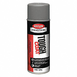 Tough Coat Rust Preventative Spray Paint in Gloss Light Gray for Metal, Steel, 12 oz.