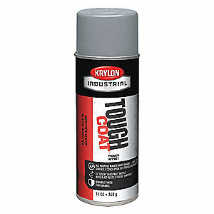Solvent-Base Rust Preventative Spray Primer, Flat Gray - Rust Control, 12 oz.
