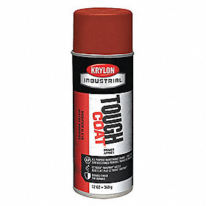 Solvent-Base Rust Preventative Spray Primer, Flat Red Oxide, 12 oz.