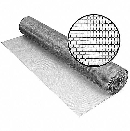 Dent Charcoal Fiberglass Insect Screen No Rust Crease x 100 ft Phifer 48 in