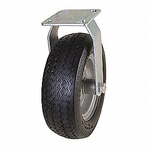 "10-1/4"" Light-Duty Sawtooth Tread Rigid Flat-Free Caster, 300 lb. Load Rating"