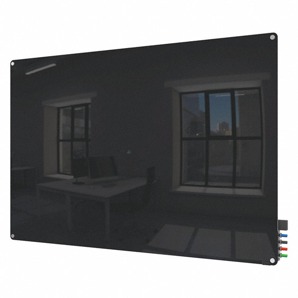 Ghent Gloss Finish Glass Dry Erase Board Wall Mounted 24