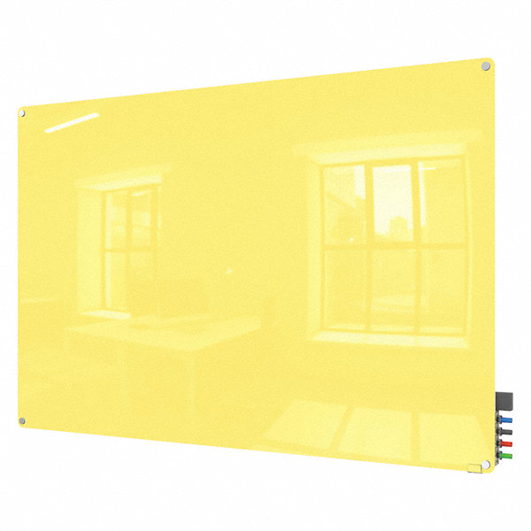Ghent Gloss Finish Glass Dry Erase Board Wall Mounted 36