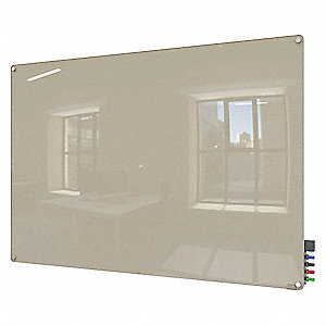 "Dry Erase Board,Magnetic,Glass,36""W"
