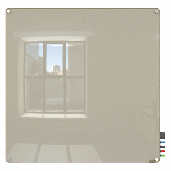 Ghent Gloss Finish Glass Dry Erase Board Wall Mounted 48