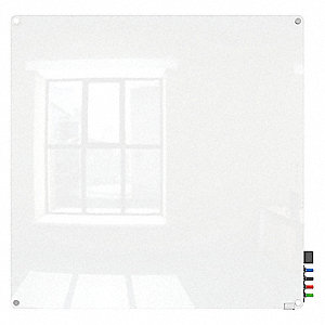 "Dry Erase Board,Magnetic,Glass,48""W"