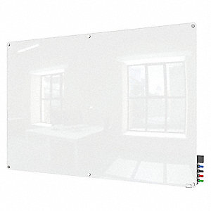 "Dry Erase Board,Magnetic,Glass,72""W"