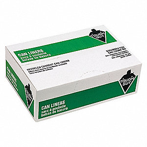 56 gal. Clear Recycled Trash Bags, Super Heavy Strength Rating, Box, 100 PK