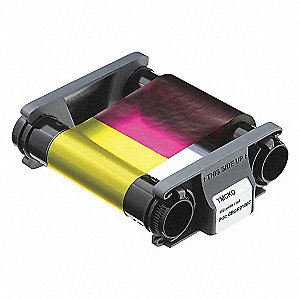 ID Card Printer Ribbon,Color,8 in. H