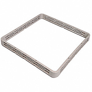 "19-1/2"" x 19-1/2"" x 1-1/2"" Plastic Rack Extender with 1 Compartments, Gray"