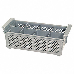 FLATWARE BASKET,PLASTIC,8-COMPARTMENTS