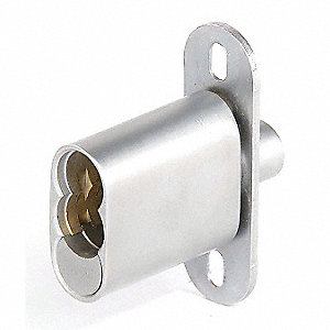 Plunger Deadbolt Sliding Lock,1/2 in. L