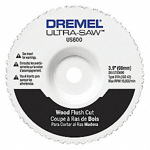 Flush Cut Wheel, Carbide, 4 in. dia.