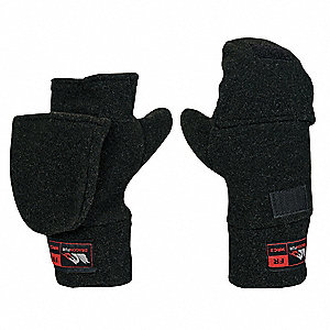FR Flip-Top Mittens,Black,M,PR