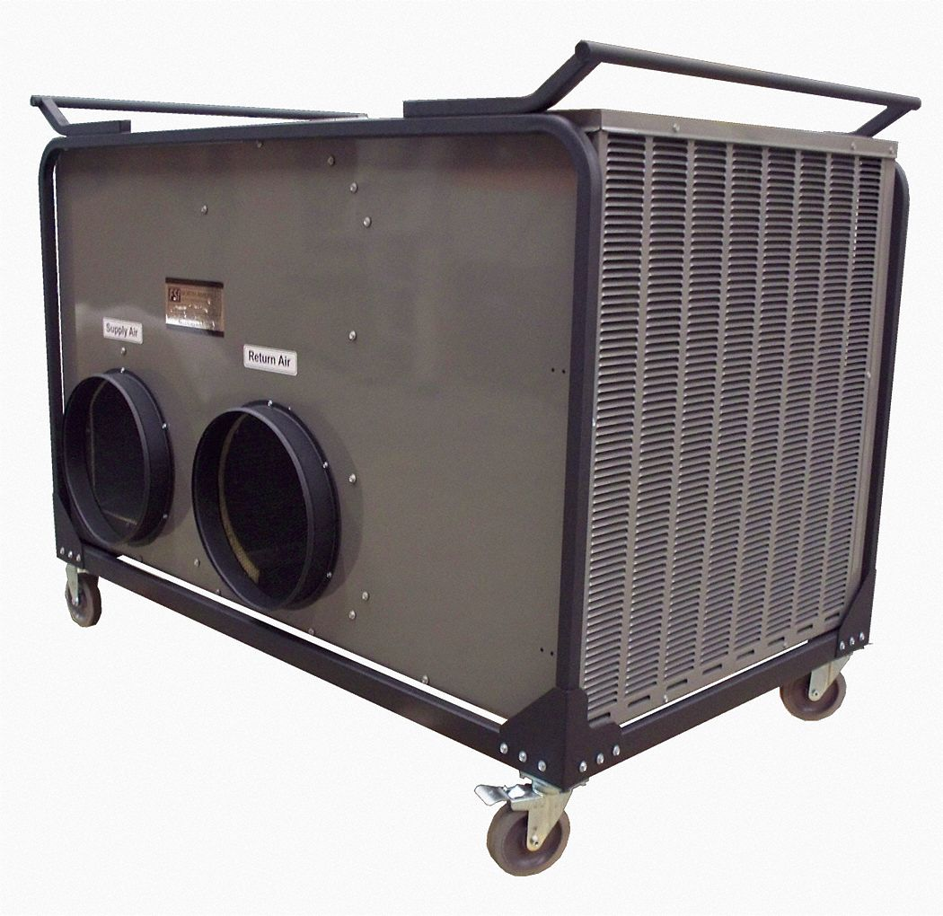 Portable HVAC,5 Ton AC and Heat Pump,  60,000 Btu,  For Use With Decon Showers, Shelters