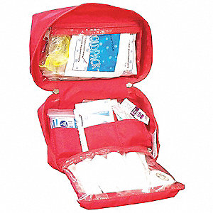 Trauma Kit,First Responder,Red,Nylon