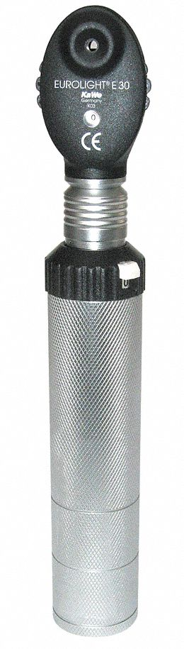 Opthalmoscope,  Silver/Black,  Disposable No