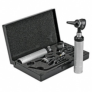 Opthalmoscope/Otoscope Kit,Silver/Black