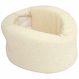 Cervical Collar,Soft Foam,Off White,XL