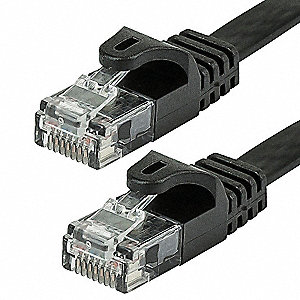 Black Ethernet Cable, Connector Type: RJ45 - 8P8C, Boot Type:  Flexboot, 25 ft. Length