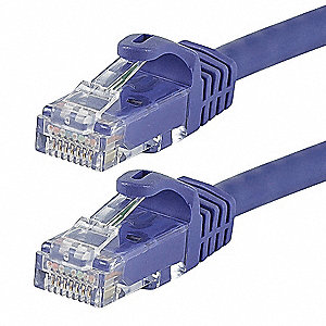 Purple Ethernet Cable, Connector Type: RJ45 - 8P8C, Boot Type:  Flexboot, 3 ft. Length