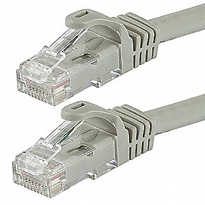 Ethernet Cable,Cat 6,Gray,14 ft.