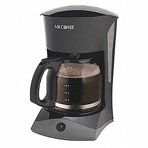 12 Cup Plastic Switch Coffee Maker Black