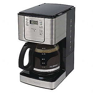 12 Cup Stainless Steel Programmable Coffee Maker, Silver