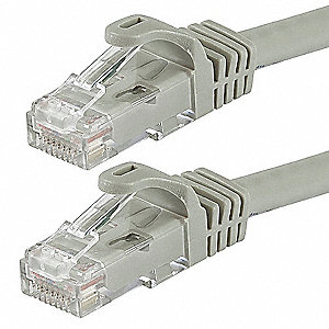 50 ft. Flexboot 6 Voice and Data Patch Cord, Gray