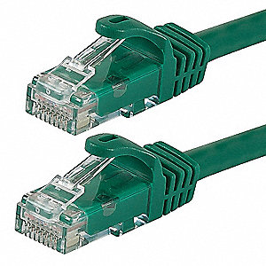 Ethernet Cable,Cat 6,Green,100 ft.