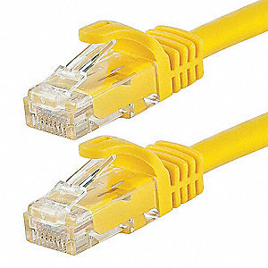 Ethernet Cable,Cat 6,Yellow,30 ft.