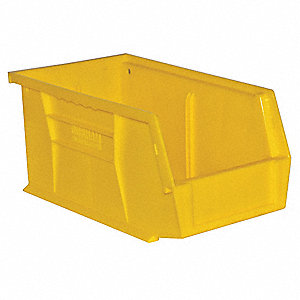 Hang and Stack Bin,5-1/2in W,5in H,Yllow