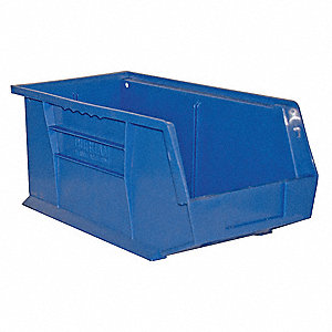 "Hang and Stack Bin,7"" H,15"" L,8"" W"