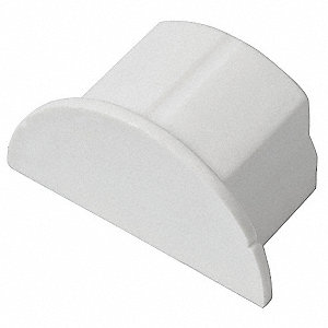 ABS End Cap For Use With 500 and 4000 Raceways, White