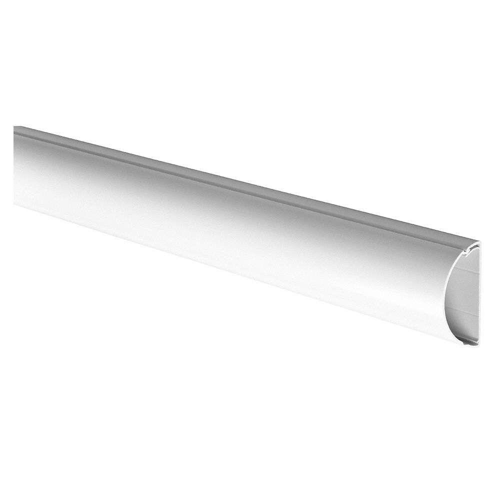 D Line 9 Ft 8 In Half Round Large Series Raceway Pvc White How To Hide Wiring Behind Baseboard Or Installing A Page 2 Of Zoom Out Reset Put Photo At Full Then Double Click