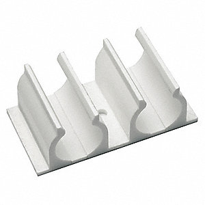ABS Pipe Clip For Use With LDPH Raceway, White