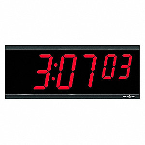 Wall Mount Rectangular Digital Digital Clock, Black