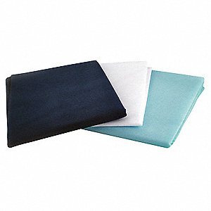 Standard Cot Sheet Set, Dark Blue, Light Blue, White&#x3b; PK25