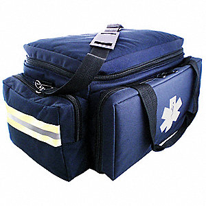 Trauma Bag,7-1/2x10x17-1/2 in.,Navy