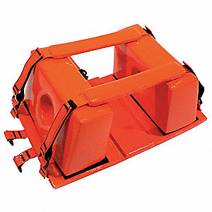 Head Immobilizer,10-1/2x16x6-1/2,Orange