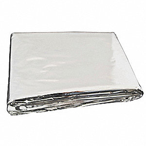 Emergency Blanket,Slvr,52In x 82In,PK200