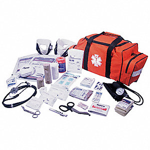 Emergency Medical Kit, Orange, 1-20 people