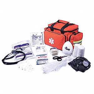 Emergency Medical Kit,Orange,1-6 People