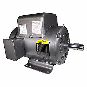 5 HP General Purpose Motor,Capacitor-Start,1725 Nameplate RPM,Voltage 230,Frame 184T