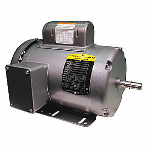1 HP General Purpose Motor,Capacitor-Start,1725 Nameplate RPM,Voltage 115/230,Frame 56H