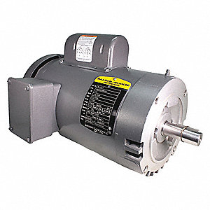 1-1/2 HP General Purpose Motor,Capacitor-Start,1725 Nameplate RPM,Voltage 115/230,Frame 145TC