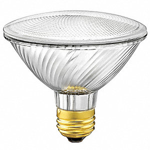 60 Watts Halogen Lamp, PAR30, 2850K Bulb Color Temp.
