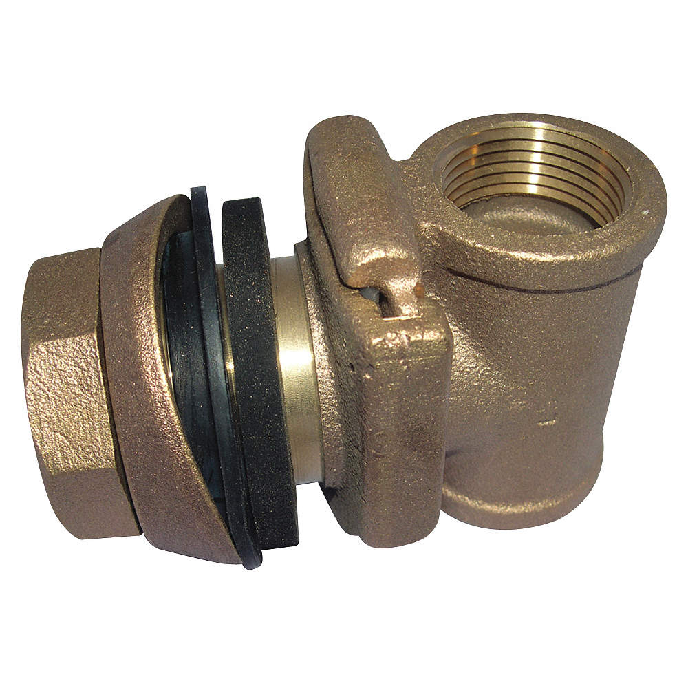 Low Lead Brass Pitless Adapter, PTFE Coated O-ring Gasket Type